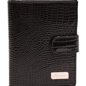 Dámska peňaženka lesklá čierna