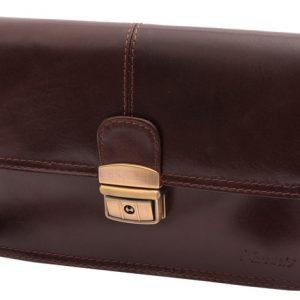Príručná etue koženková taška, tmavá