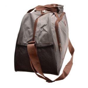 Cestovná taška šedá/hnedá