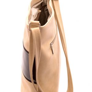 Dámska crossbody kabelka béžová/čoko