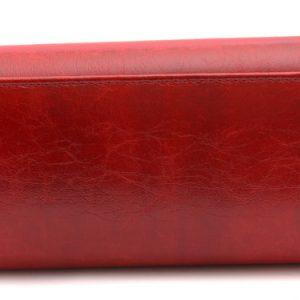 Dámska kabelka červená hladká
