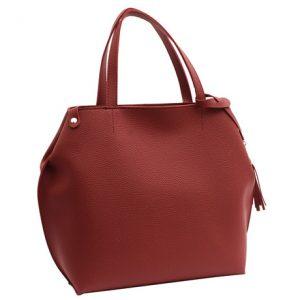 Dámska klasická kabelka červená