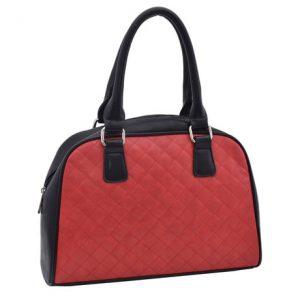 Dámska klasická kabelka červená/čierna