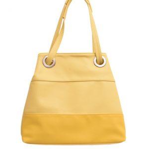 Dámska klasická kabelka žltá