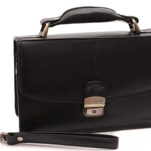 Príručná Etue kožená taška čierna