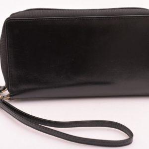Etue kožená taška čierna