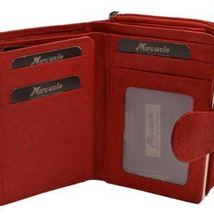 Peňaženka červená zipsová zapínacia