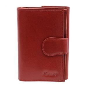 Peňaženka červená zapínacia rozkladacia