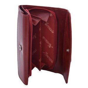 Peňaženka červená s okrasným lemom