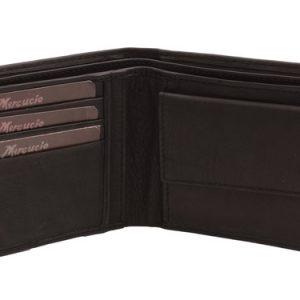 Peňaženka čierna hladká