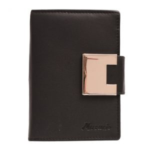 Peňaženka čierna s okrasným zapínaním