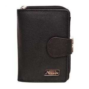 Peňaženka čierna zapínacia, zatváracia