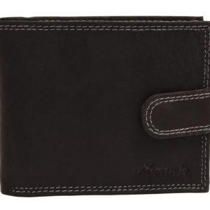 Peňaženka čierna na zapínanie prešívaná