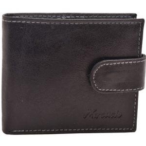 Peňaženka čierna prešívaná hladká