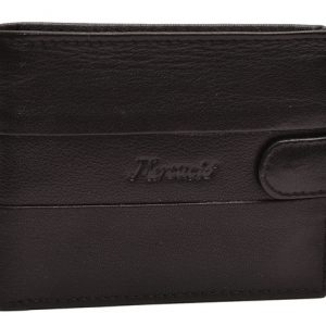 Peňaženka čierna okrasný vzor