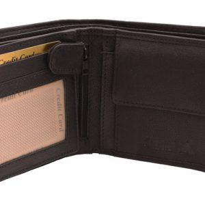 Peňaženka čierna vzorová prešívaná