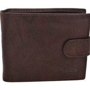Peňaženka hnedá zapínacia hladká