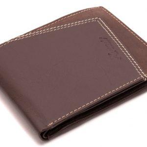 Peňaženka vzorovane hnedá