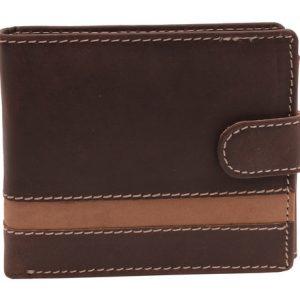 Peňaženka hnedá svetlý pásik