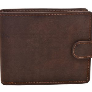 Peňaženka tmavohnedá zapínacia