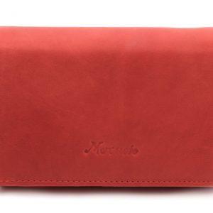 Peňaženka s euromincovníkom červená