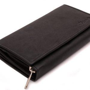 Peňaženka čierna s euromincovníkom