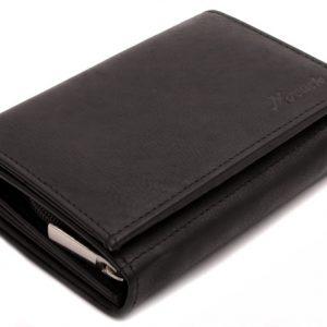 Peňaženka s euromincovníkom čierna