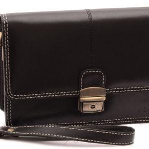 Príručná Etue koženková taška čierna