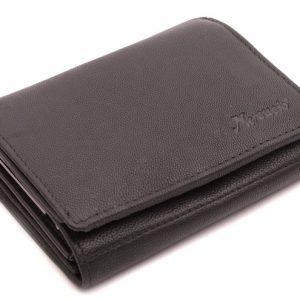 Čierna Peňaženka prešívaný lem