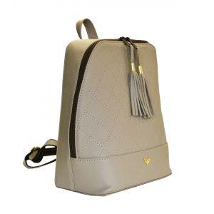 Štýlový dámsky kožený ruksak z prírodnej kože v bežovej farbe