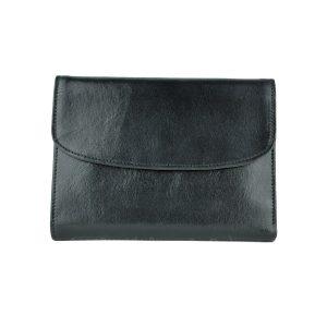 Dámska kožená peňaženka v čiernej farbe