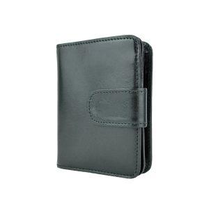 Dámska malá kožená peňaženka v čiernej farbe