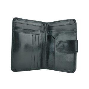 Dámska praktická kožená peňaženka č.8503 v čiernej farbe