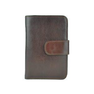 Dámska praktická kožená peňaženka v hnedej farbe