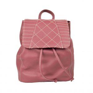 Dámsky módny kožený ruksak z prírodnej kože v bordovej farbe