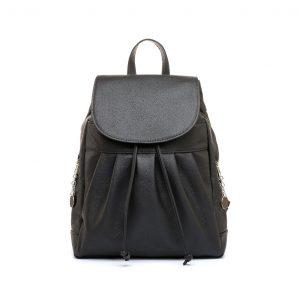 Dámsky módny ruksak v čiernej farbe
