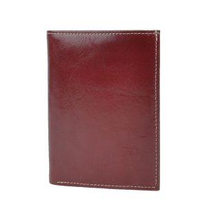 Luxusná kožená dokladovka v červenej farbe