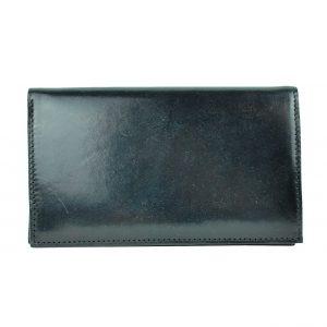 Elegantná kožená dokladovka v čiernej farbe