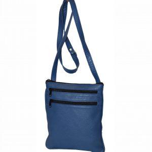 Elegantná kožená etuja, viacúčelové púzdro v modrej farbe