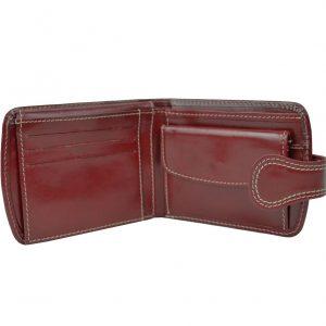 Elegantná kožená peňaženka v červenej farbe