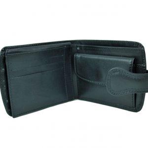 Elegantná kožená peňaženka v čiernej farbe