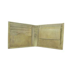 Elegantná peňaženka z pravej kože v khaki farbe