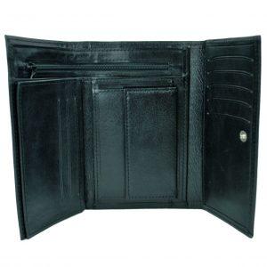 Elegantná peňaženka z pravej kože v čiernej farbe