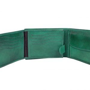 Elegantná peňaženka z pravej kože v slabo hnedej farbe, ručne tamponovaná