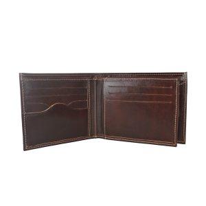 Elegantná peňaženka z pravej kože v tmavo hnedej farbe