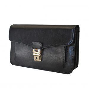 Moderná kožená etuja, viacúčelové púzdro v čiernej farbe