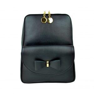 Exkluzívny kožený ruksak z pravej hovädzej kože v čiernej farbe
