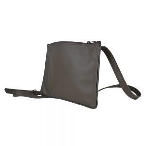 Exkluzívna kožená mini kabelka v hnedej farbe