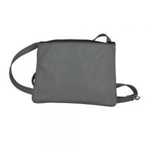 Exkluzívna kožená mini kabelka v šedej farbe