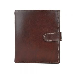 Exkluzívna kožená peňaženka v tmavo hnedej farbe